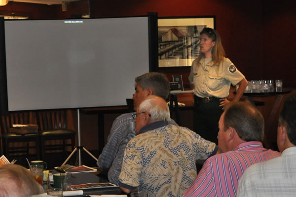 Fire protection presentation by Lexi Maxwell, a Wildfire Urban Interface Specialist from the Texas Forest Service