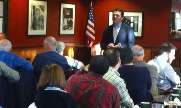 Rep. Strama speaks at CASE Kick-off Breakfast